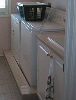 The New Place For The Washer And Dryer Is On The Second