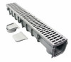 "NDS 864G Pro Series 5"" x 1 Meter Deep Profile Channel Drain Kit"