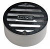 "NDS  3"" Round Satin Chrome Grate w/PVC Collar"