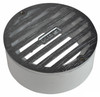 "NDS  4"" Round Satin Chrome Grate w/PVC Collar"
