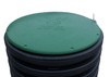 "15"" Plastic Septic Riser Cover (Green)"