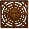 "Iron Age Baked on Oil Finish Cast Iron Sun Drain Grate for 12"" Basin"