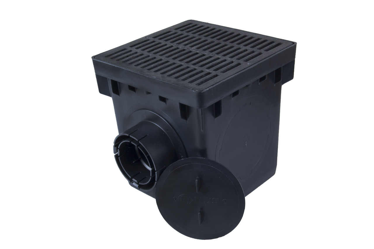Nds 12 Quot Catch Basin Kit W Black Grate The Drainage