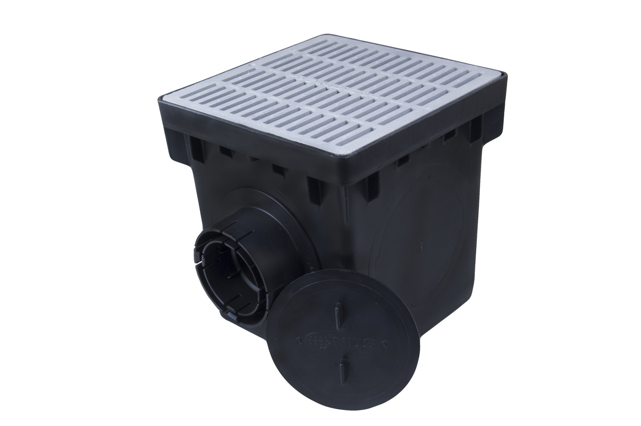 Nds 12 Quot Catch Basin Kit W Gray Grate The Drainage