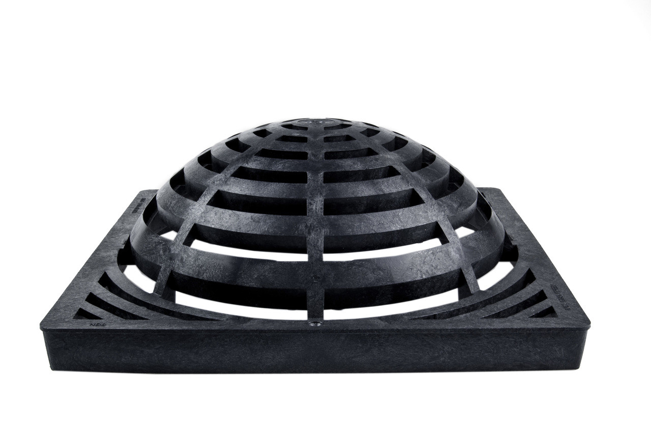 Nds Square Plastic Atrium Grate 18 Quot Basin Black The