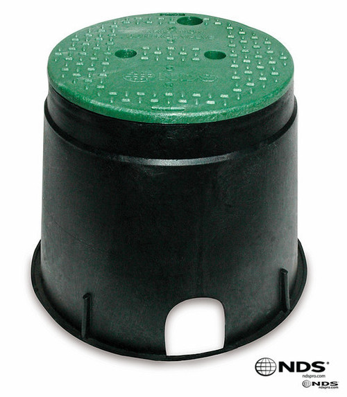 "NDS Valve Box 10"" (Black Box / Green Cover)"