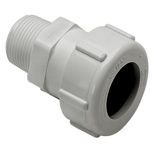 "3/4"" IPS PVC Compression X MPT Adapter (White)"