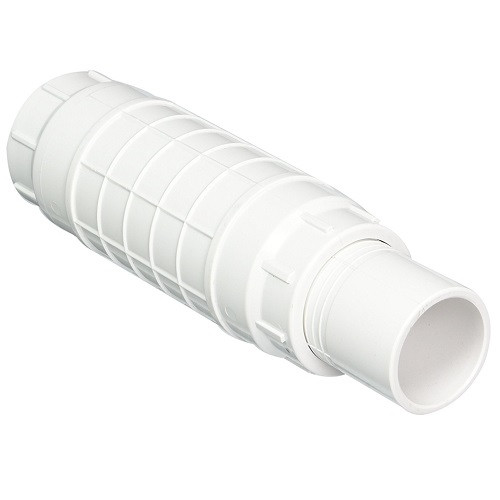 "1 1/2"" PVC Expansion Repair Coupling (White) (S x Sp)"