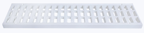 """NDS Pro Series 5"""" Light Traffic Channel Grate White (Each)"""