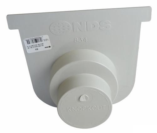 "NDS Pro Series 8"" Deep Profile Channel Drain End Outlet / Cap"
