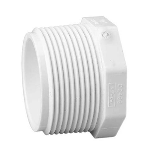 "4"" PVC Schedule 40 Plug (MPT)"