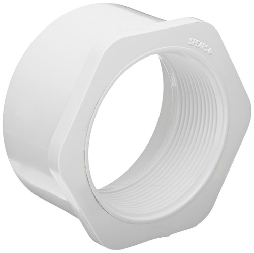 "1 1/2"" x 3/4"" PVC Schedule 40 Reducer Bushing (Sp x FPT)"