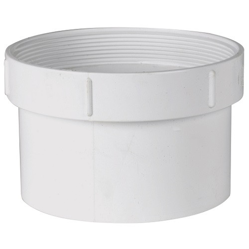 """12"""" PVC SDR35 Solvent Weld Cleanout Adapter (Sp x FPT)"""