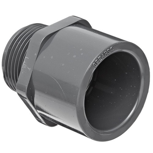"""1"""" PVC Schedule 80 Male Adapter (S x MPT)"""