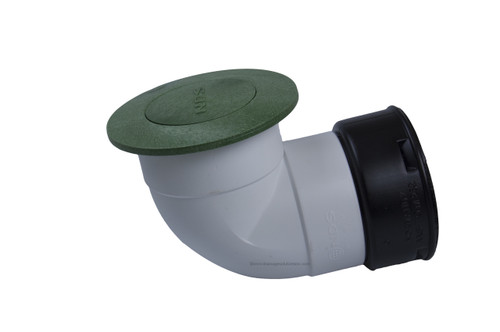 """6"""" NDS Pop-Up Emitter with Elbow & Corrugated Adapter (Green) (Each)"""