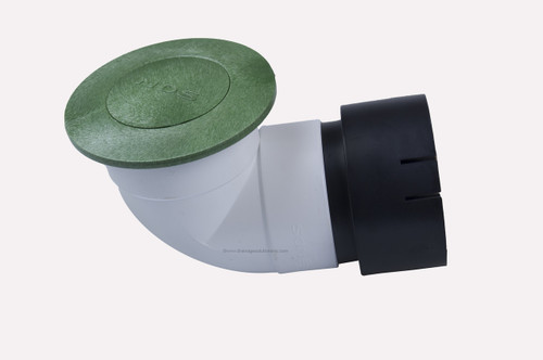 "4"" NDS Pop-Up Emitter with Elbow & Universal Adapter (Green) (Each)"