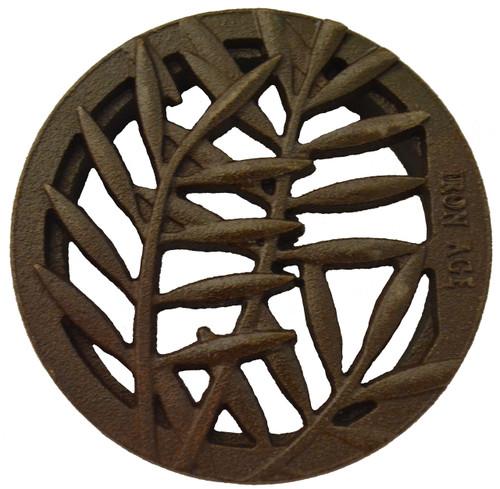 "Iron Age Cast Iron Locust 4"" Round Grate"