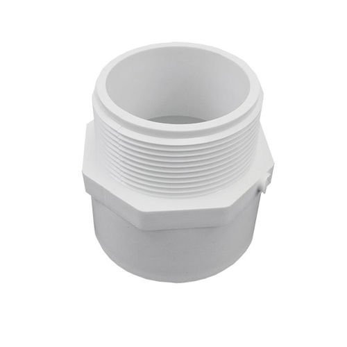 """2"""" x 2 1/2"""" PVC Schedule 40 Reducing Male Adapter (S x MPT)"""
