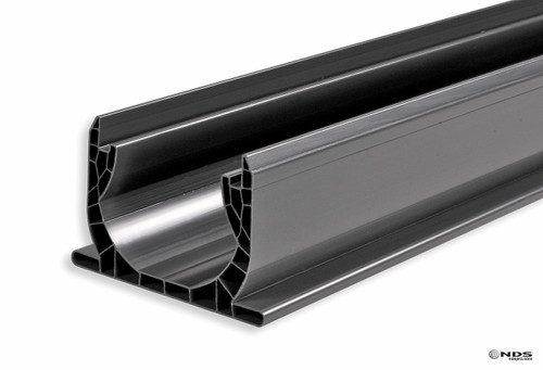 """NDS Spee-D Channel Drain 4"""" x 4' (Gray) (Box of 6)"""