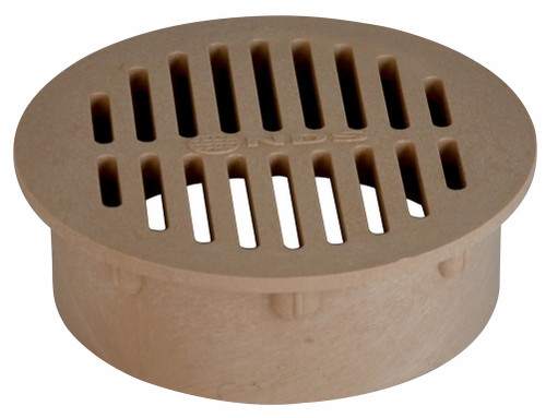 """NDS  6"""" Round Grate - Sand (Each)"""