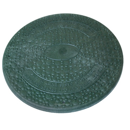 "18"" Structural Foam Solid Septic Riser Cover (Green)"