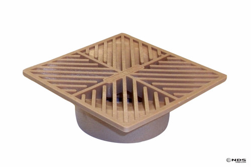 """NDS  6"""" Square Grate - Sand (Each)"""
