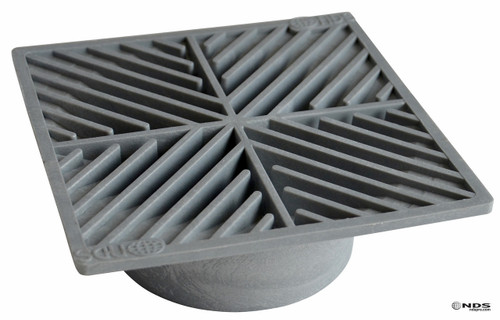 "NDS  6"" Square Grate - Gray (Box of 10)"