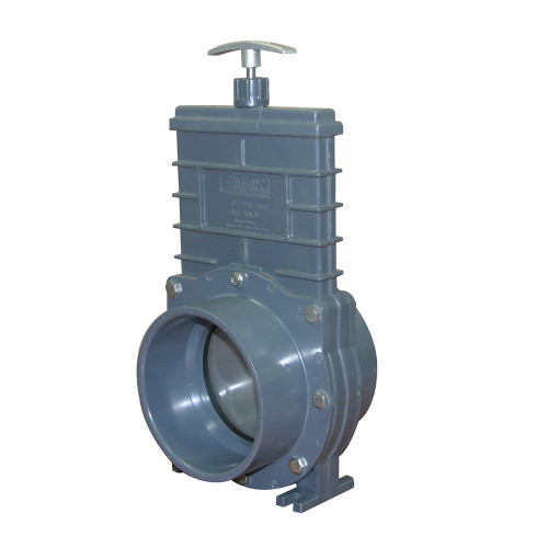 Valterra 4 Quot Pvc Gray Knife Gate Valve W Ss Paddle Each