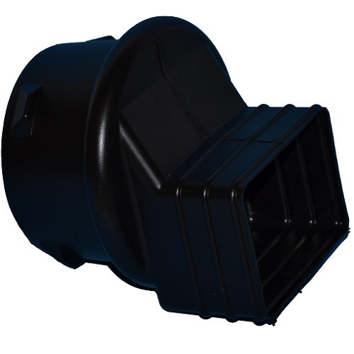 """HDPE  2"""" x 3"""" x 4"""" Singlewall Downspout Adapter (Box of 18)"""