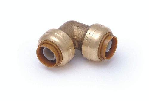 "SharkBite 1/2"" Brass Push-Fit Elbow (90) (Lead Free)"