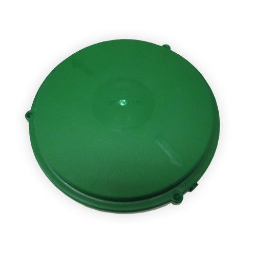 "Tuf-Tite 12"" Domed Riser Lid (Green)"