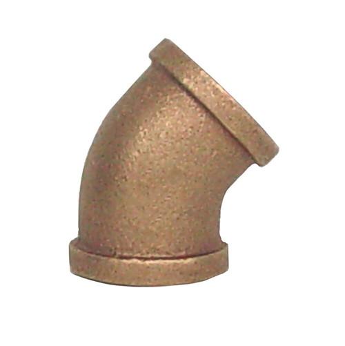"""1"""" Bronze 45 Elbow (1/8) (FPT x FPT)"""