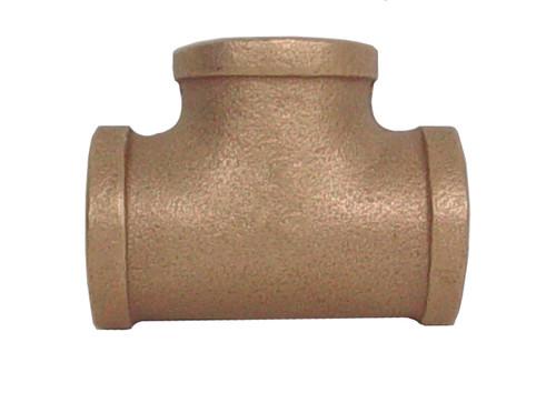 """3/4"""" x 3/4"""" x 3/4"""" Bronze Tee (FPT x FPT x FPT)"""