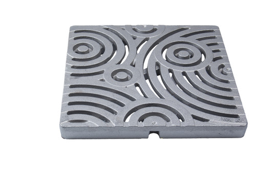 "Iron Age Raw Cast Iron Oblio Grate for 12"" Basin"
