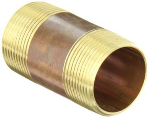 """1 1/2"""" x 3"""" Brass Nipple (MPT x MPT)"""