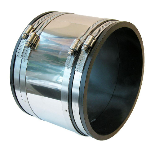 "PVC  3"" x 3"" Flex Coupling & Shear Ring (CI/Plastic x CI/Plastic)"