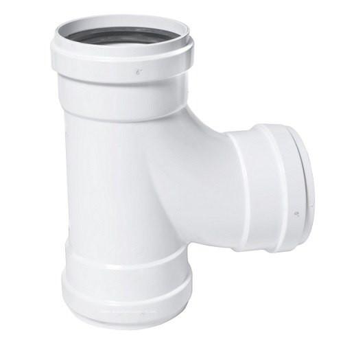 "4"" PVC SDR35 Gasket Joint Sanitary Tee (G x G x G)"