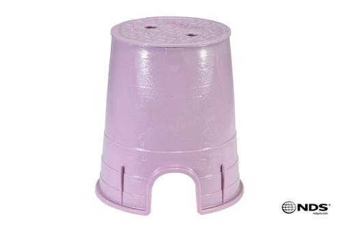 "NDS 6"" Round Valve Box (Purple Box / Purple Cover)"