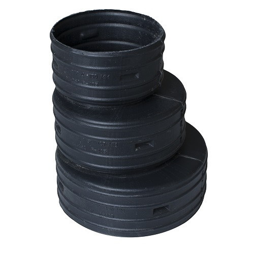 "HDPE  6"" x 5""-4""  Singlewall Reducer Coupling (BE)"