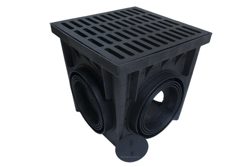 """NDS 24"""" Four Hole Catch Basin Kit w/ Cast Iron Grate"""