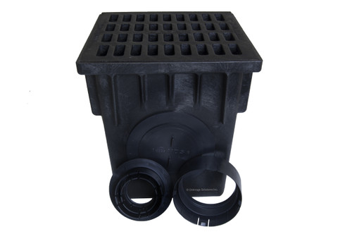 "NDS 18"" Two Hole Catch Basin Kit w/ Cast Iron Grate"