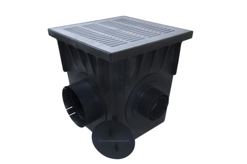 "NDS 18"" Four Hole Catch Basin Kit w/ Gray Grate"