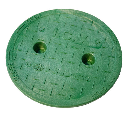 "NDS 6"" Valve Box Cover ONLY - Green"