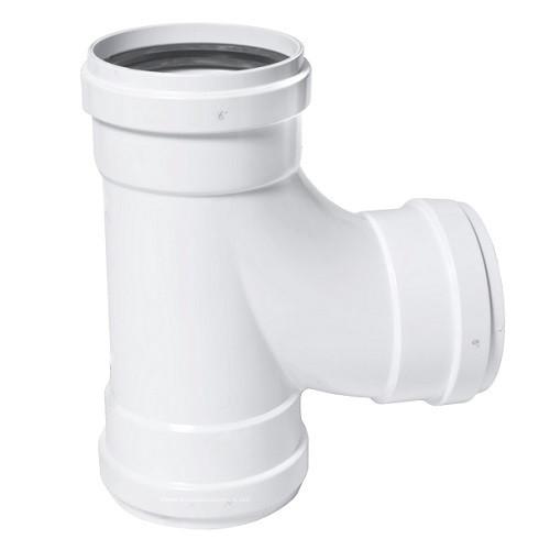 """6"""" PVC SDR26 Heavy Wall GJ Sanitary Tee (G x G x G)"""