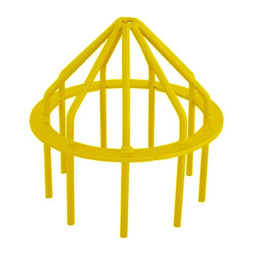 "Bar Guard Intake  8"" (Heavy Duty) Yellow"