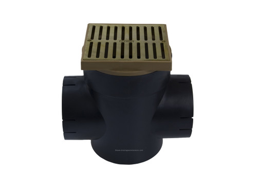 NDS Spee-D Basin Double Outlet Square Polished Brass Kit