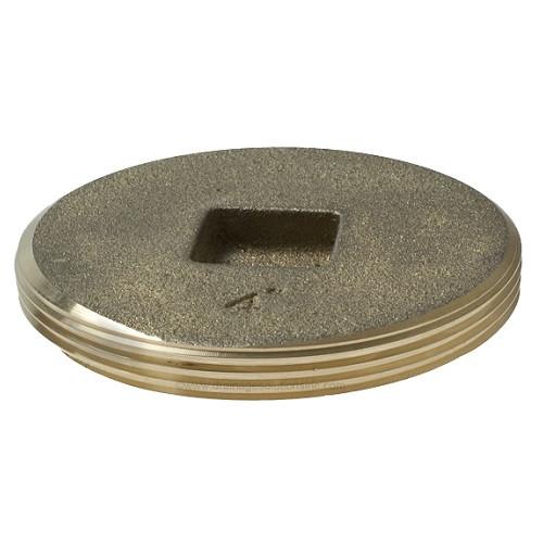 "4"" Brass Countersunk Threaded Plug (MPT)"