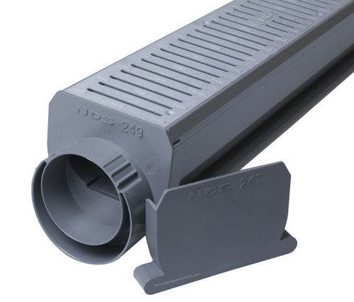 NDS Spee-D Channel Drain Kit (Gray)