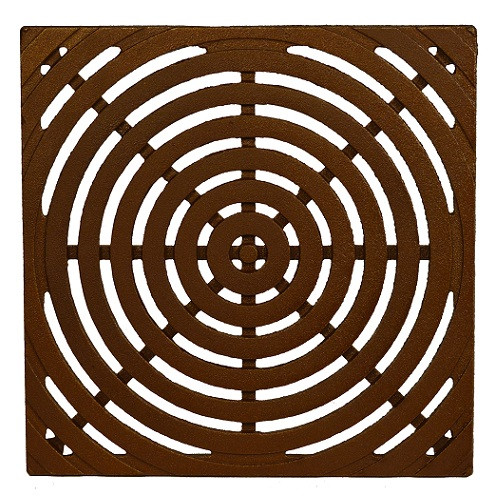 "Iron Age Baked on Oil Finish Cast Iron Bullseye Grate for 12"" Basin"