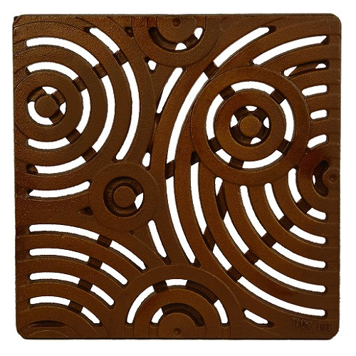 """Iron Age Baked on Oil Finish Cast Iron Oblio Grate for 12"""" Basin"""